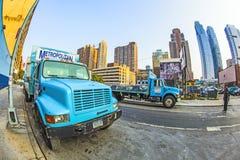 Lorries of Metropolitan company Royalty Free Stock Photos
