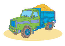 Lorry. Truck loaded with building material Royalty Free Stock Photos