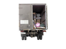 Lorry. The image of a lorry stands at the unloading royalty free stock photo