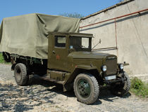 Lorry. Russian military old-fashioned lorry Royalty Free Stock Photos