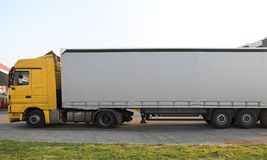 Lorry. A commercial lorry for goods delivery Stock Images