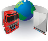 Lorry. Delivery of goods around the world Royalty Free Stock Images