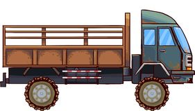 Lorry. Vector illustration lorry  isolated on white background with old look Royalty Free Stock Image