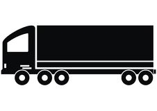 Lorry. Forwarding - silhouette of a truck - color black Royalty Free Stock Image
