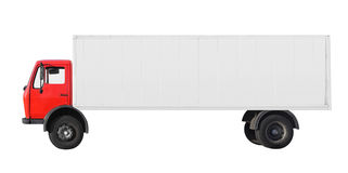 Lorry. Cargo and freight transporter stock photo