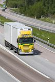 Lorry in countryside Stock Photo