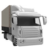 Lorry. 3D rendered image of a lorry Royalty Free Stock Images