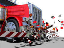 Lorry and destruction Royalty Free Stock Image