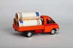 Lorry with euro Stock Photo
