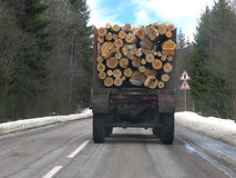 Lorry with firewood Royalty Free Stock Photography