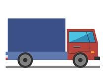 Lorry, flat style Stock Photo
