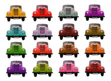 A lorry full of color. Stock Image