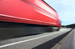 Lorry on a highway Royalty Free Stock Photography
