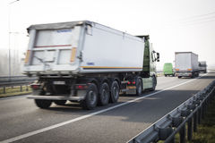 Lorry on the highway Royalty Free Stock Images