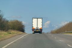 Lorry on a hill Stock Image