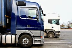 Lorry. Image of a lorry parked outside a yard in Luton London stock photography