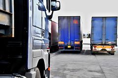 Lorry. Image of a lorry parked outside a yard in Luton London royalty free stock photos