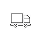 Lorry line icon, Truck outline  logo illustration, linear Royalty Free Stock Photos