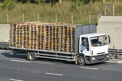 Lorry loaded with timber pallets Royalty Free Stock Photo