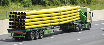 Lorry Loaded With Pipes