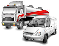 Lorry and minibus Stock Photography