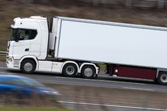 Lorry in motion on the motorway Royalty Free Stock Images
