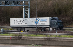 Lorry on the motorway Royalty Free Stock Image