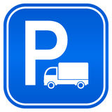 Lorry parking sign Stock Photo