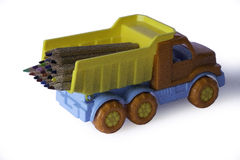 The Lorry with pencils Stock Images