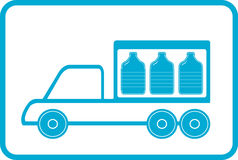 Lorry with plastic bottles Royalty Free Stock Photo