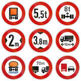 Lorry Restrictions In Germany Royalty Free Stock Photos