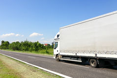 The lorry on a road Royalty Free Stock Images