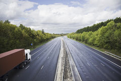 Lorry on the road Stock Images