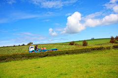 A lorry on the rural road Royalty Free Stock Image