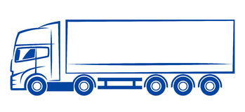 Lorry sketch Royalty Free Stock Image