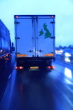 Lorry speeding 1 Stock Images