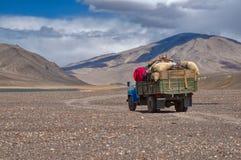 Lorry in Tajikistan Stock Photos