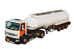 Lorry with tank car Royalty Free Stock Photo