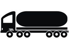 Lorry - tank. Trucks - Tank - black sketch profile Royalty Free Stock Image