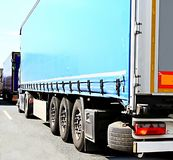 Lorry in a traffic jam. Image of lorry in a traffic jam royalty free stock photography