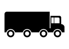 Lorry Truck. Vehicle icon or symbol stock illustration
