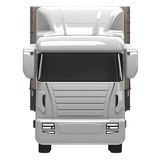 Lorry. Or truck front view Stock Images