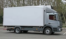 Lorry Truck. A Modern Cargo Transport Lorry Truck in a Car Park stock images