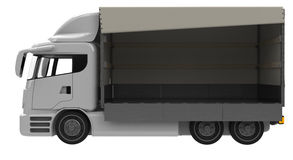 Lorry. Or truck side view with open loading area Royalty Free Stock Photography
