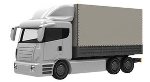 Lorry. Or truck in three quarter view Royalty Free Stock Photography