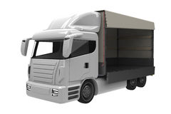 Lorry. Or truck three quarter view with open loading area Stock Photography
