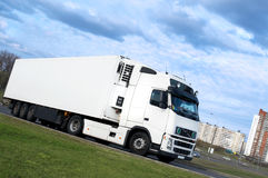 Lorry turning. See other trucks in my portfolio royalty free stock photo