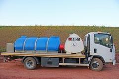 Lorry On um canteiro de obras foto de stock royalty free