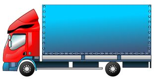 The lorry in a vector Stock Image