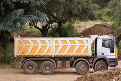 Lorry at work Stock Images